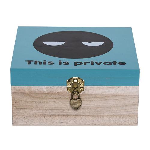 bloomingville box mit schloss jannem. Black Bedroom Furniture Sets. Home Design Ideas