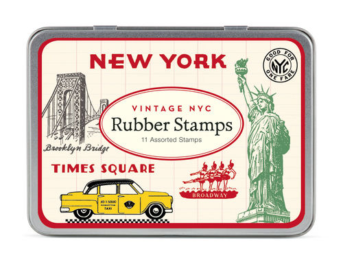 Cavallini Stempel Set Vintage New York