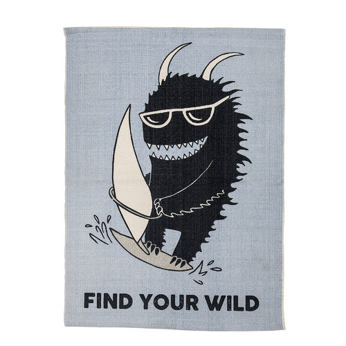 Bloomingville Teppich Find your wild 70 x 100 cm, blau