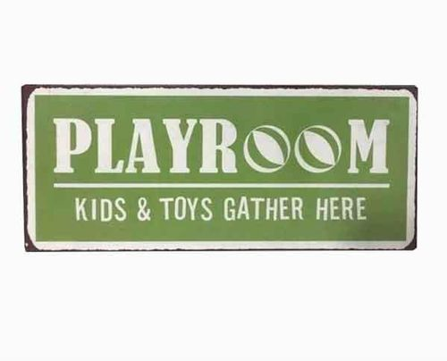 Blechschild Playroom