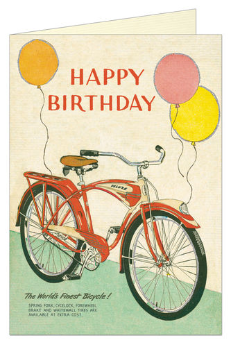 Cavallini Grußkarte Birthday Bicycle