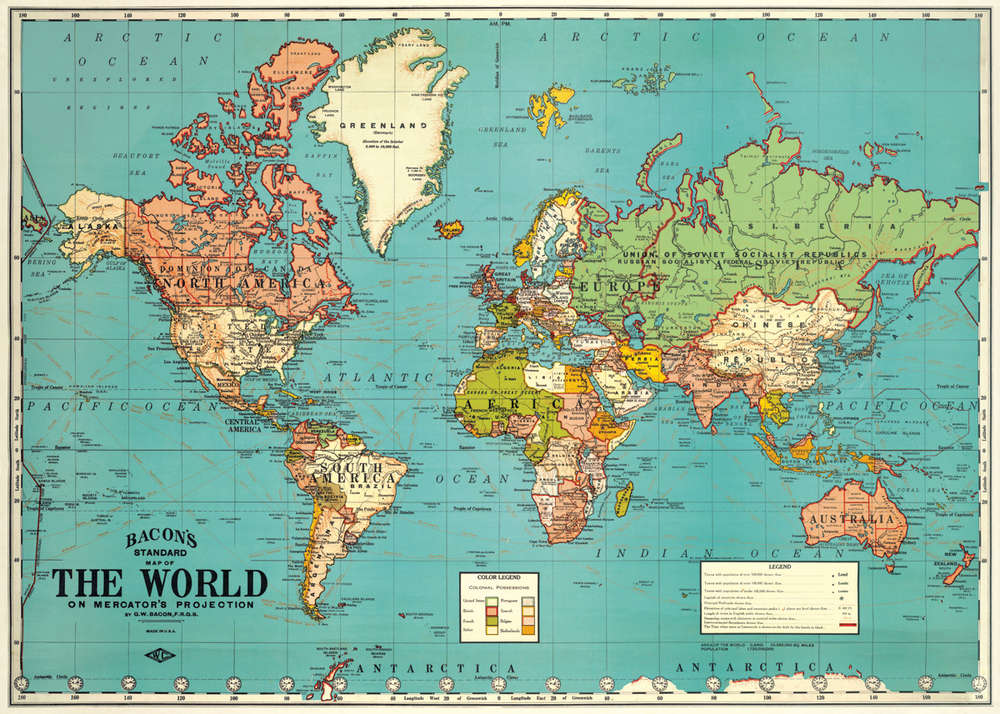 Cavallini Poster World Map