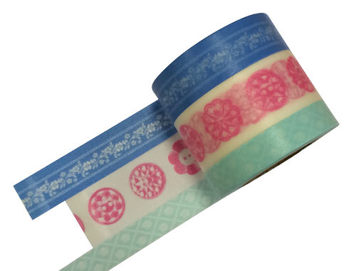 Masté Washi Tape Grand Blau 3er Set