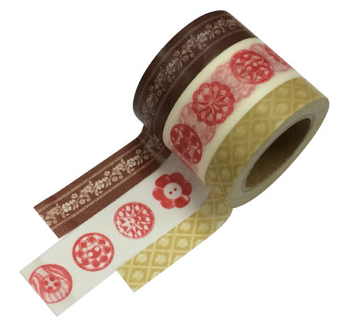 Masté Washi Tape Grand Braun 3er Set