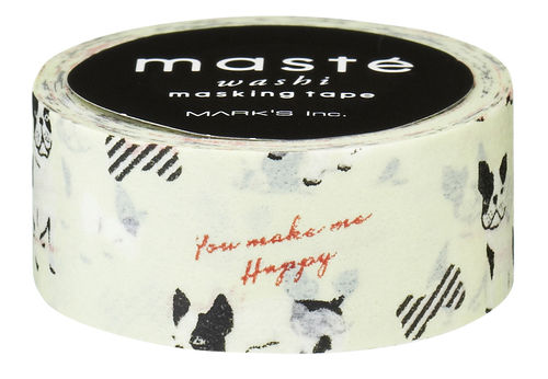 Masté Washi Tape French Bulldog