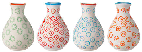 Bloomingville Vase Emma 4er Set