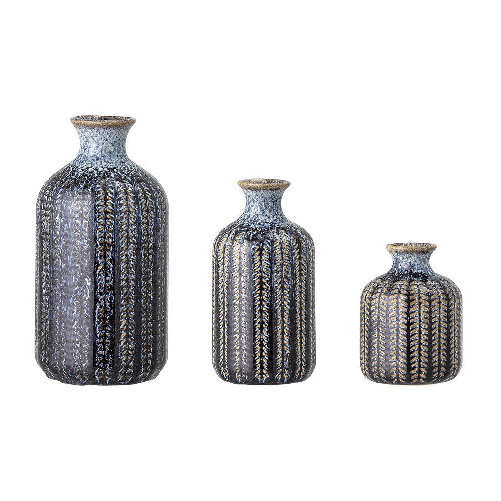 Bloomingville Vase, blau, 20er Set